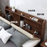 Wooden storage bed Queen size Multifunctional design solid wooden bedroom furniture wooden double bed with bookcase headboard