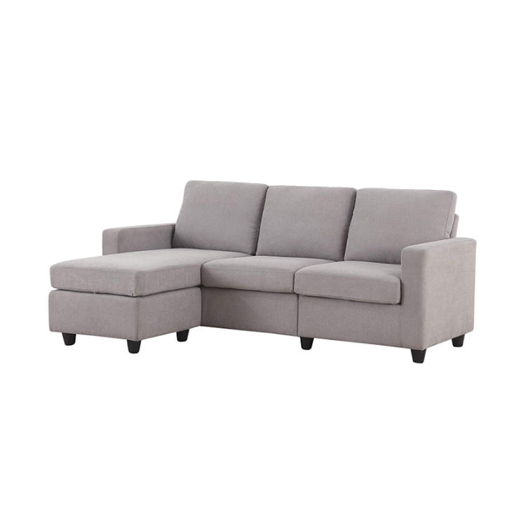 Natural wood furniture livingroom Luxury section modern simple sofa set