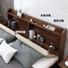 solid wooden bed frame storage hot sales latest design rustic platform slats bed
