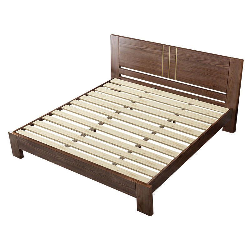 solid wood low bed double latest design comfortable high-end low price home furniture