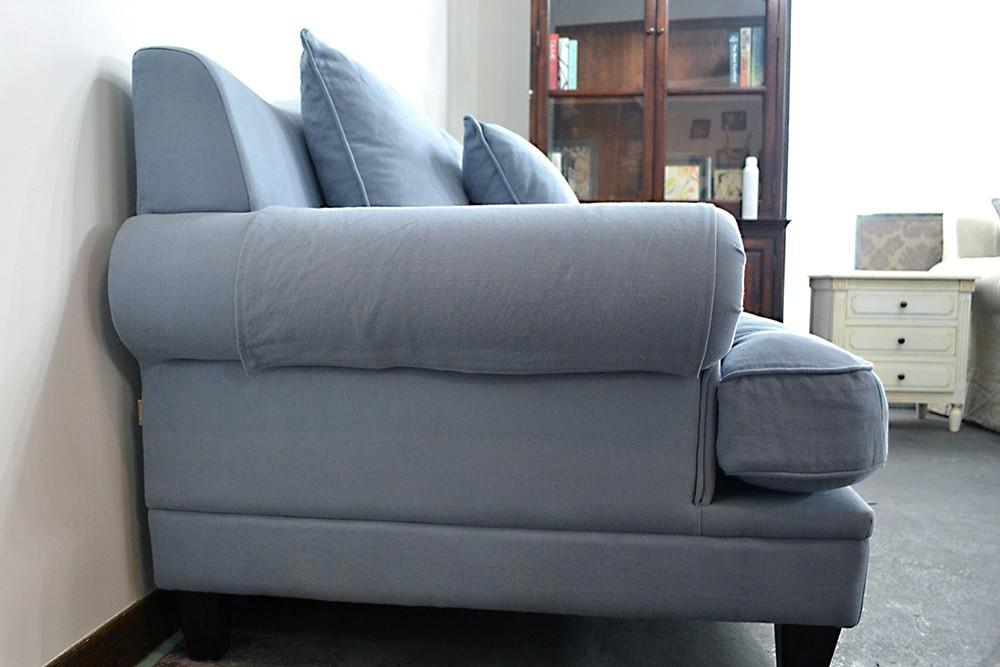 living room furniturenordic style modern Velour fabric scandinavian dark grey luxury sofa