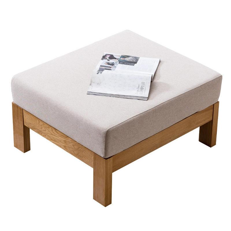 Modern simple 4 seats fabric chaise longue sofa