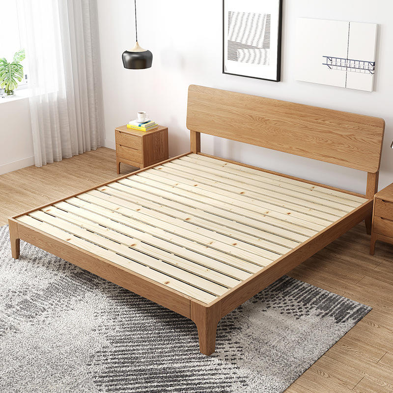 special offer latest design modern double storage solid wood bed