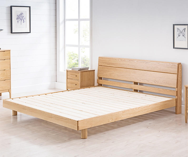 Boomdeer net red ins special offer latest Customizable design modern double simple naturalsolid wood 1.5m bed furniture frame