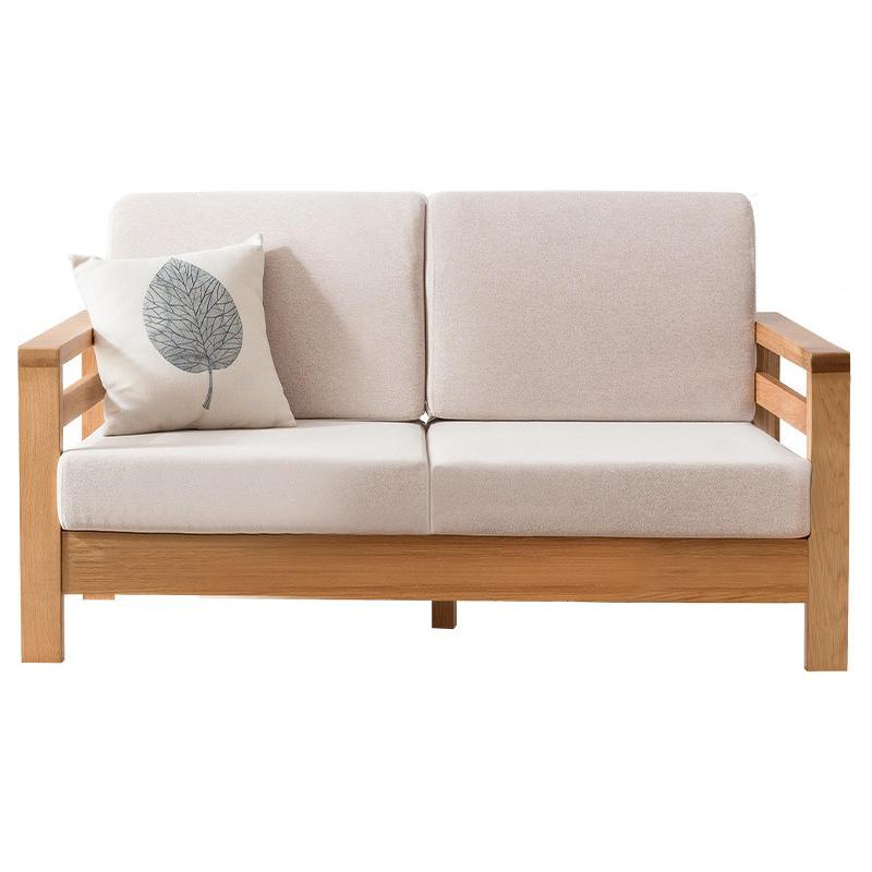 Modern simple 4 seats fabric chaise longue sofa with single sofa