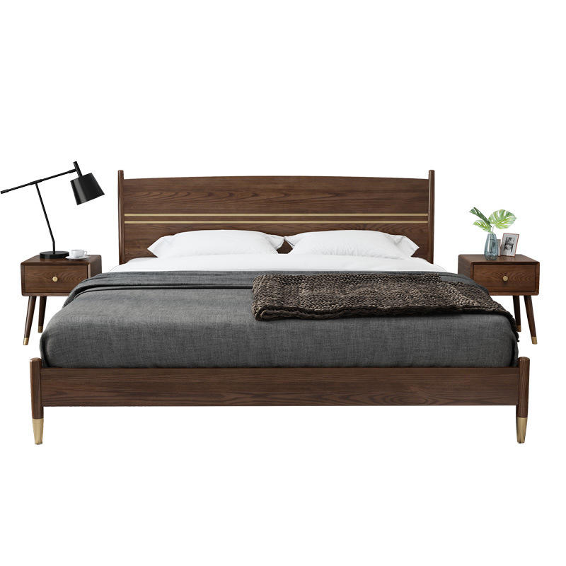 Modern Design Solid Wood Sleeping wooden Frame Platform Bed Bedroomhome furniture set