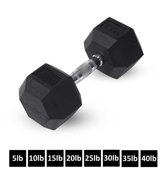 Gym Equipment 3kg 5kg 10kg black rubber hex dumbbell Iron dumbbells For Sale