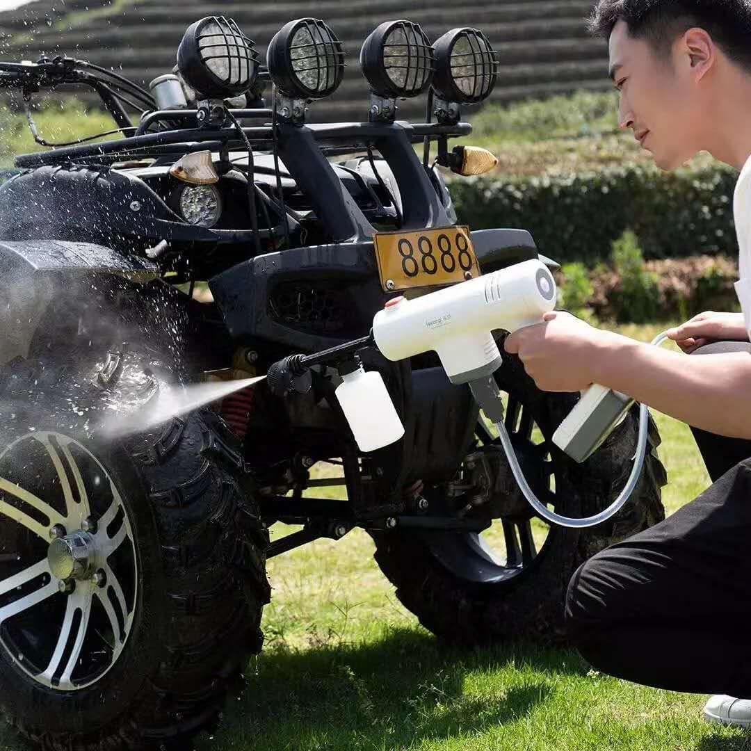 Home Use high pressure cordless car care tools car washer car washing gun 20v charging lithium battery