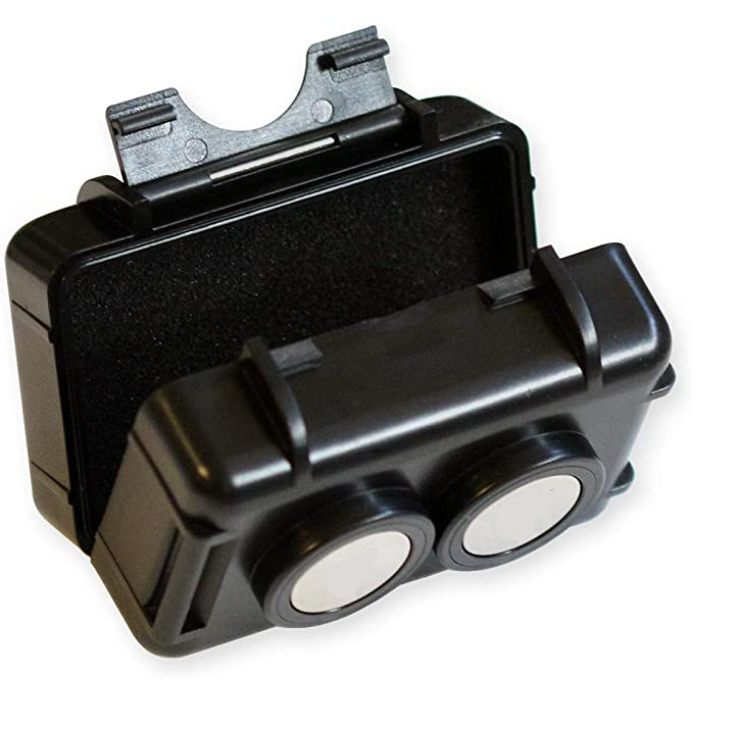 Waterproof Strong Magnetic Stash Box -Magnet Mount Locker Box, Geocaching Container, Under Car GPS