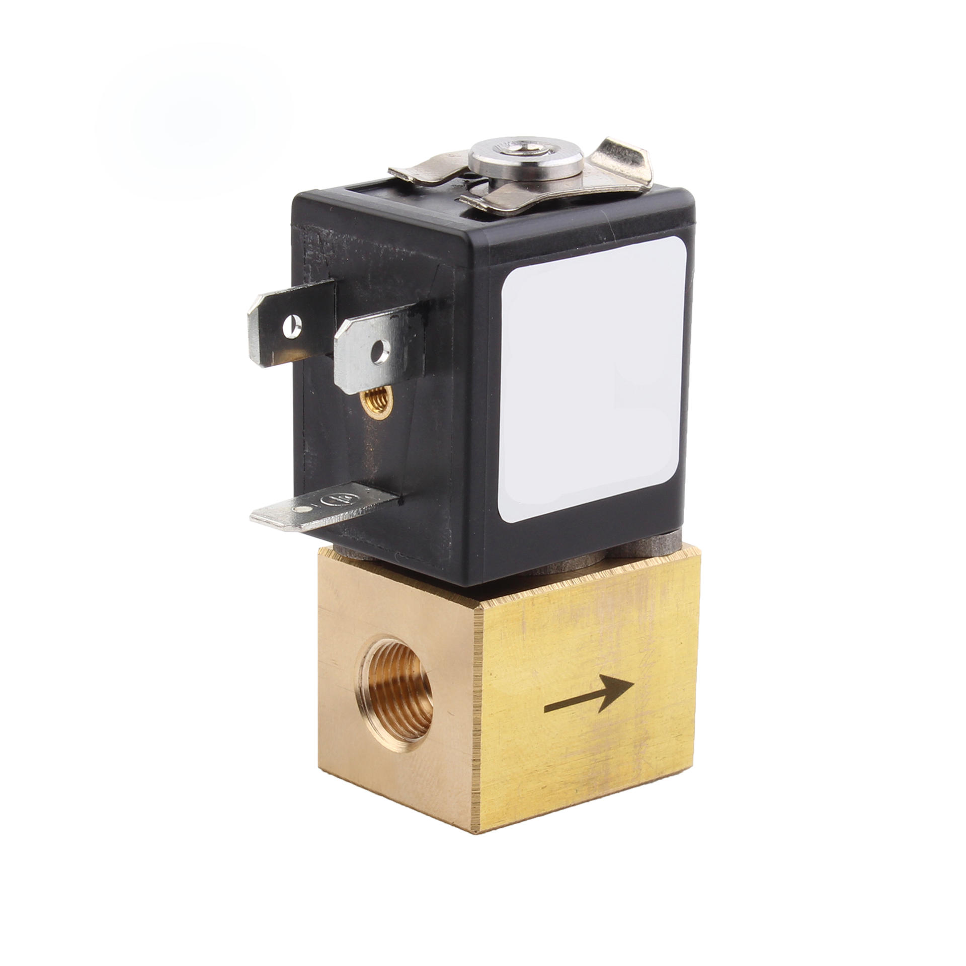 Brass Miniature Proportional Control Air Solenoid Valve 12v High Flow For Ventilator Use