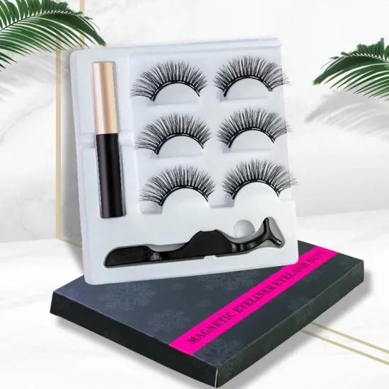 5 Magnet Full Eyes Eyelash Rapid Magnetic Lashes Kit 3D False Magneticeyelashes With Packaging Box And Eyelash Magnet