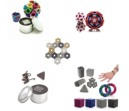 216 512 Pieces Large 5mm Magnetic Balls Building Blocks Sculpture Magnets