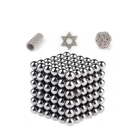 Professional Wholesale 3mm 5mm 7mm Round Nickle Silver Colored toy Bucky Magnetic Balls