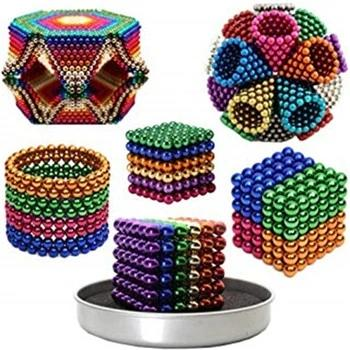 216pcs 512pcs 1000 pcs 3MM 4MM 5MM Magic Magnet Blocks Cube Beads Buidling Toys Puzzle Magnetic Balls
