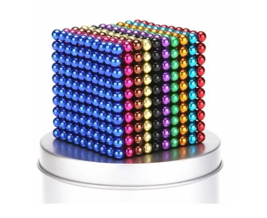 [Accept Customization]6 multi color 5mm magnetic balls 216pcs for Education