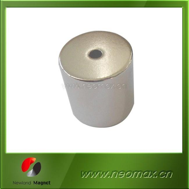 N35 N40 N45 N50 Rare Earth Cylinder Magnet with Hole
