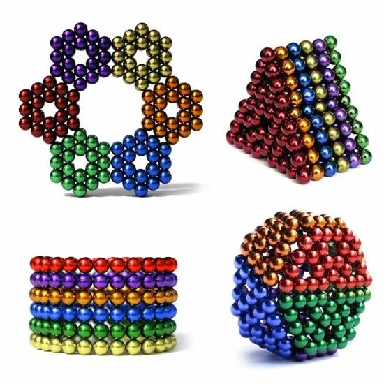 Factory Price Super Strong Metal Cube 216pcs/512pcs 5mm colorful Magnetic Balls