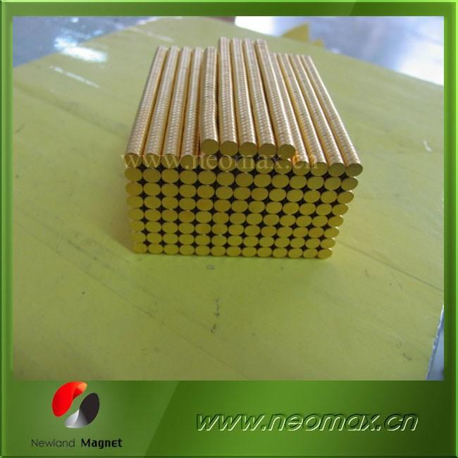 Permenent Disc Magnet with Gold coating