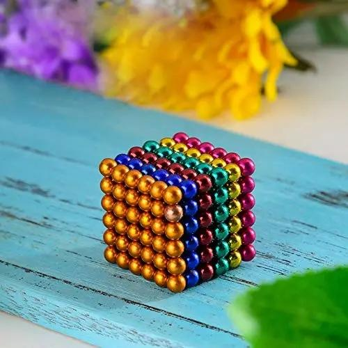 Factory direct sellmagnetic ball toys 3mm 5mm 216 pcs strong colour magnetic rods magnetic balls