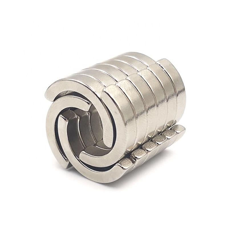 Couple magnetized Arc Neodymium Magnet for motor generator