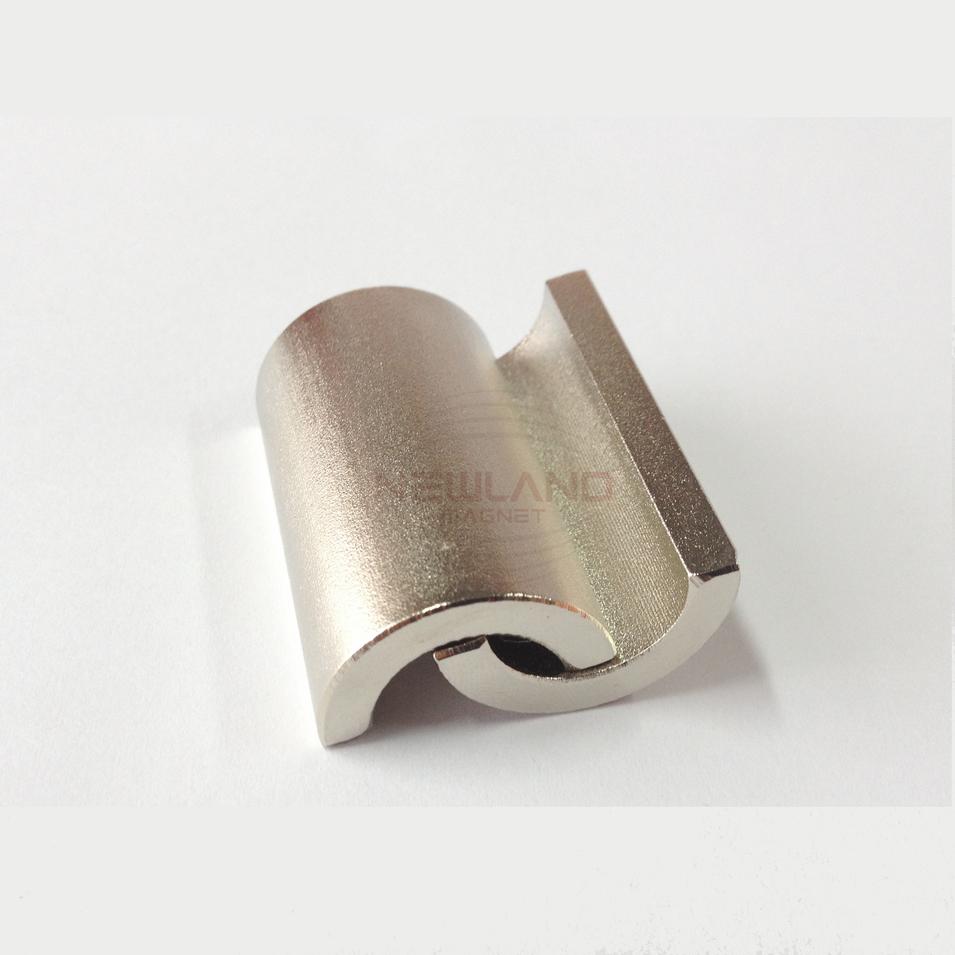 Couple magnetized Arc shape Neodymium Magnet for motor wind generator