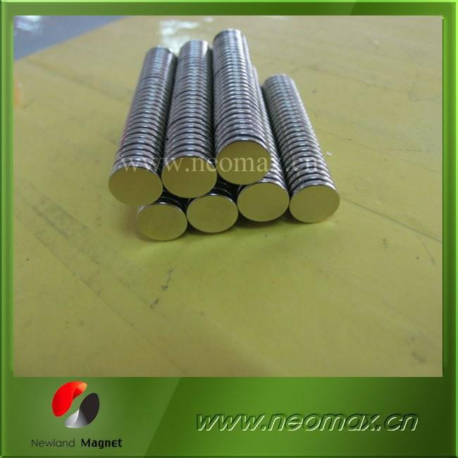 Zn/Ni coated D15x2 disc neodymium magnet with Ni coating