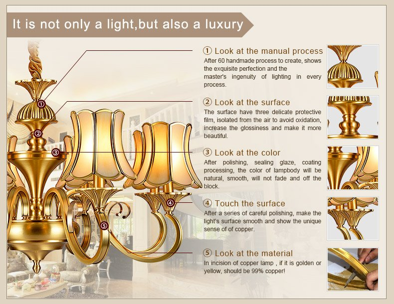 luxury modern brass chandelier large vintage for big lobby-1