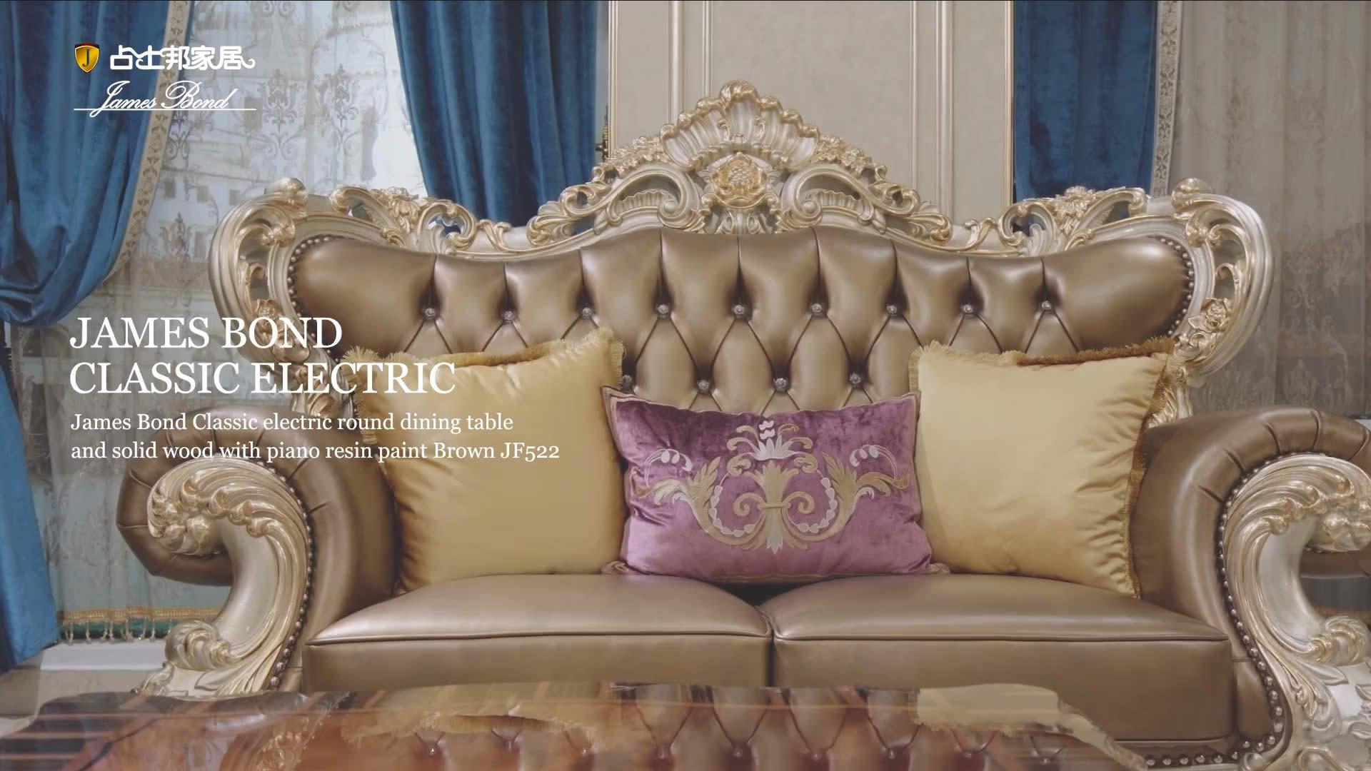 Sofa klasikoko altzariak 14k urrezko eta egurrezko urrezko urrezkoak & xanpaina A2819 James Bond